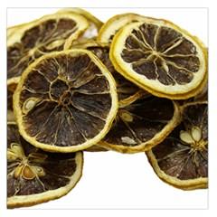 Lemon Dried Fruit Orange Isolated Large Satin Scarf (square)