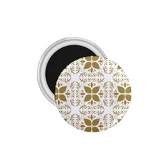 Pattern Gold Floral Texture Design 1 75  Magnets