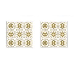 Pattern Gold Floral Texture Design Cufflinks (square) by Nexatart