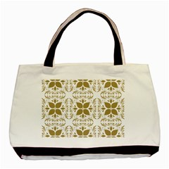 Pattern Gold Floral Texture Design Basic Tote Bag by Nexatart