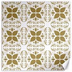 Pattern Gold Floral Texture Design Canvas 12  X 12   by Nexatart
