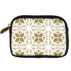 Pattern Gold Floral Texture Design Digital Camera Cases