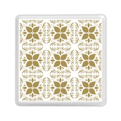 Pattern Gold Floral Texture Design Memory Card Reader (square)  by Nexatart