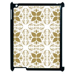 Pattern Gold Floral Texture Design Apple Ipad 2 Case (black)