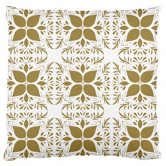 Pattern Gold Floral Texture Design Large Cushion Case (two Sides)
