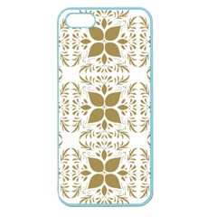Pattern Gold Floral Texture Design Apple Seamless Iphone 5 Case (color) by Nexatart