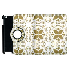 Pattern Gold Floral Texture Design Apple Ipad 2 Flip 360 Case by Nexatart