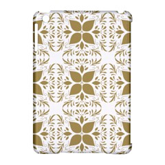 Pattern Gold Floral Texture Design Apple iPad Mini Hardshell Case (Compatible with Smart Cover) by Nexatart
