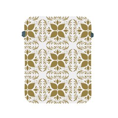 Pattern Gold Floral Texture Design Apple Ipad 2/3/4 Protective Soft Cases by Nexatart