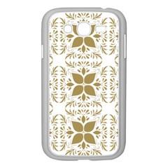 Pattern Gold Floral Texture Design Samsung Galaxy Grand Duos I9082 Case (white) by Nexatart