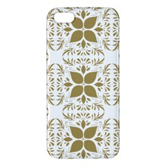 Pattern Gold Floral Texture Design Iphone 5s/ Se Premium Hardshell Case by Nexatart