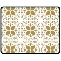 Pattern Gold Floral Texture Design Double Sided Fleece Blanket (medium)