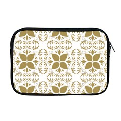 Pattern Gold Floral Texture Design Apple Macbook Pro 17  Zipper Case