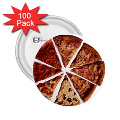 Food Fast Pizza Fast Food 2 25  Buttons (100 Pack)