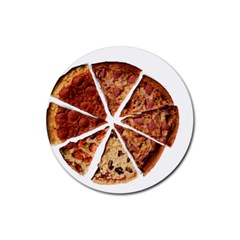 Food Fast Pizza Fast Food Rubber Coaster (round)  by Nexatart