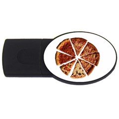 Food Fast Pizza Fast Food Usb Flash Drive Oval (2 Gb) by Nexatart