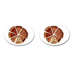 Food Fast Pizza Fast Food Cufflinks (oval) by Nexatart