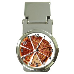 Food Fast Pizza Fast Food Money Clip Watches by Nexatart