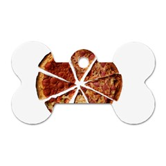 Food Fast Pizza Fast Food Dog Tag Bone (two Sides) by Nexatart