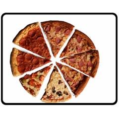 Food Fast Pizza Fast Food Fleece Blanket (medium)
