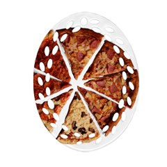 Food Fast Pizza Fast Food Oval Filigree Ornament (two Sides) by Nexatart