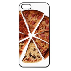 Food Fast Pizza Fast Food Apple Iphone 5 Seamless Case (black) by Nexatart