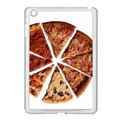 Food Fast Pizza Fast Food Apple Ipad Mini Case (white) by Nexatart