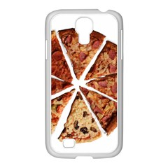 Food Fast Pizza Fast Food Samsung Galaxy S4 I9500/ I9505 Case (white) by Nexatart