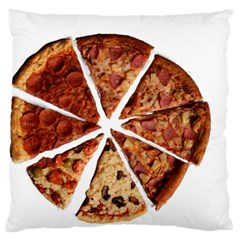 Food Fast Pizza Fast Food Large Flano Cushion Case (two Sides)