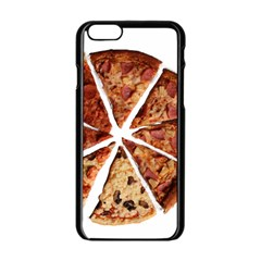 Food Fast Pizza Fast Food Apple Iphone 6/6s Black Enamel Case by Nexatart