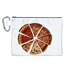 Food Fast Pizza Fast Food Canvas Cosmetic Bag (l) by Nexatart