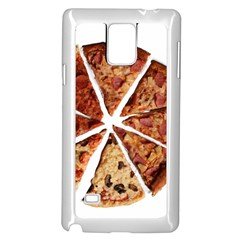 Food Fast Pizza Fast Food Samsung Galaxy Note 4 Case (white) by Nexatart