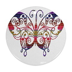 Butterfly Nature Abstract Beautiful Ornament (round)
