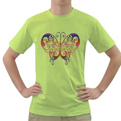 Butterfly Nature Abstract Beautiful Green T Shirt