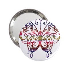 Butterfly Nature Abstract Beautiful 2 25  Handbag Mirrors