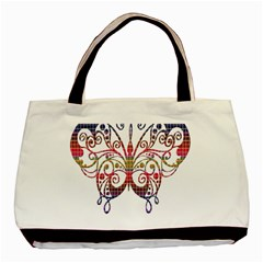 Butterfly Nature Abstract Beautiful Basic Tote Bag (two Sides)