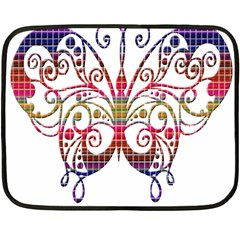 Butterfly Nature Abstract Beautiful Double Sided Fleece Blanket (mini)  by Nexatart