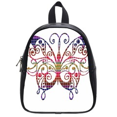 Butterfly Nature Abstract Beautiful School Bags (small)  by Nexatart