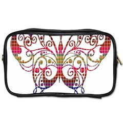 Butterfly Nature Abstract Beautiful Toiletries Bags 2 Side by Nexatart