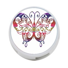Butterfly Nature Abstract Beautiful 4 Port Usb Hub (two Sides)