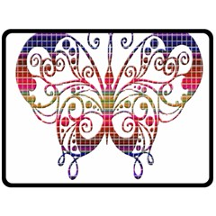 Butterfly Nature Abstract Beautiful Fleece Blanket (large)  by Nexatart