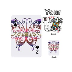 Butterfly Nature Abstract Beautiful Playing Cards 54 (mini)  by Nexatart