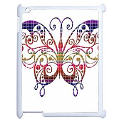 Butterfly Nature Abstract Beautiful Apple Ipad 2 Case (white) by Nexatart