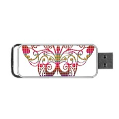 Butterfly Nature Abstract Beautiful Portable Usb Flash (two Sides)