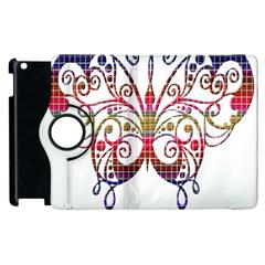 Butterfly Nature Abstract Beautiful Apple Ipad 3/4 Flip 360 Case by Nexatart