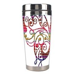 Butterfly Nature Abstract Beautiful Stainless Steel Travel Tumblers by Nexatart