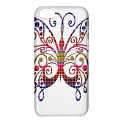 Butterfly Nature Abstract Beautiful Apple Iphone 5c Hardshell Case by Nexatart