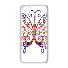 Butterfly Nature Abstract Beautiful Apple Iphone 5c Seamless Case (white) by Nexatart
