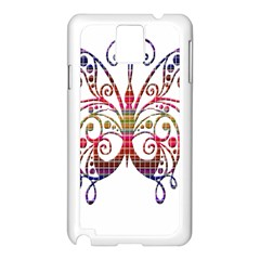 Butterfly Nature Abstract Beautiful Samsung Galaxy Note 3 N9005 Case (white)