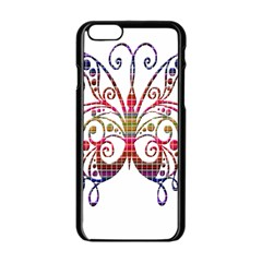 Butterfly Nature Abstract Beautiful Apple Iphone 6/6s Black Enamel Case by Nexatart